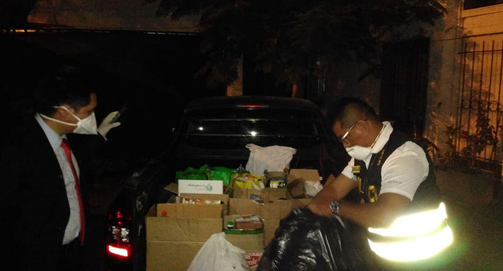 El Comercio publicara una serie de fotografías donde se ve al alcalde Rodríguez usando el vehículo del serenazgo e ingresando a su casa con paquetes.