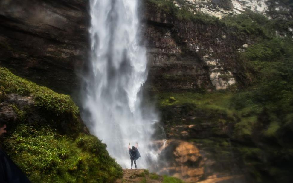 La catarata fue descubierta en el 2002 por el alemán Stefan Ziemendorff. Localmente es llamada La Chorrera y se encuentra en las cercanías de los caseríos de Cocachimba y San Pablo, distrito de Valera, provincia de Bongará, en el departamento de Amazonas.(Foto: AFP)