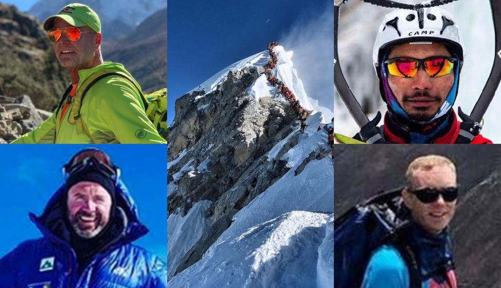 Montañistas y guías que murieron en el Everest esta temporada. (Foto: AFP - Facebook)