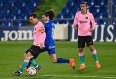 Getafe venció 1-0 a Barcelona por la Liga española