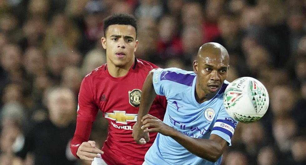 Manchester United vs. Manchester City: las mejores imágenes del derbi por la Copa de la Liga inglesa. (AP Photo/Jon Super)