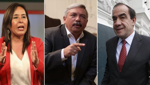 Nidia Vílchez, Alberto Beingolea y Yonhy Lescano, respectivamente, son los candidatos presidenciales del Apra, PPC y Acción Popular para las elecciones del 2021. (Fotos: GEC)