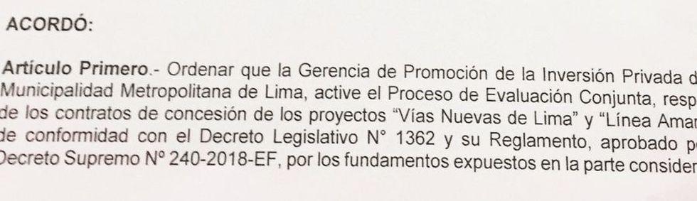 Concejo aprueba exhortar a que la GPIP inicie el proceso de evaluación conjunta de los contratos