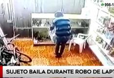 Los Olivos: ladrón entró a robar a negocio de bicicletas y se puso a bailar tras apoderarse de una laptop