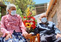 """Moquegua: hombre de 109 años y su esposa de 81 celebraron el """"Día de San Valentín"""""""