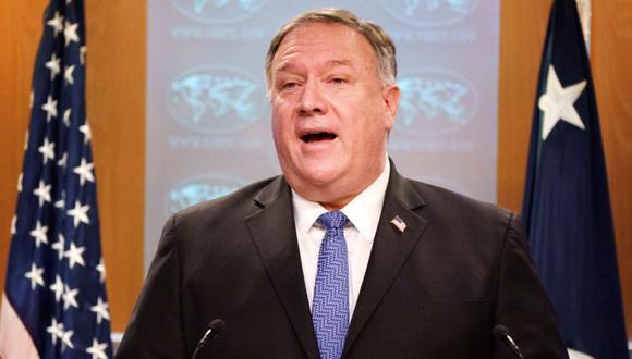 El secretario de Estado de Estados Unidos, Mike Pompeo, habla durante una sesión informativa para los medios en el Departamento de Estado en Washington, Estados Unidos. (Foto: Jacquelyn Martin / REUTERS).