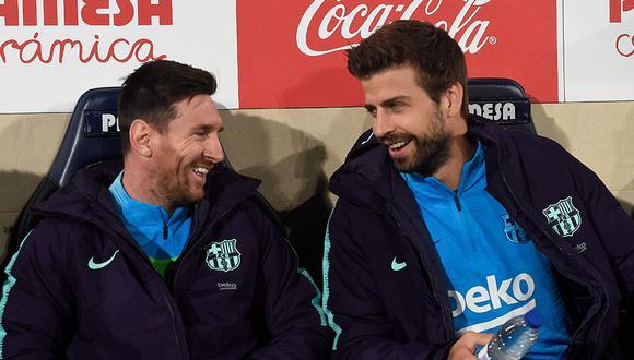 Gerard Piqué tiene a Lionel Messi como parte de su proyecto en el FC Andorra. (Foto: AFP)