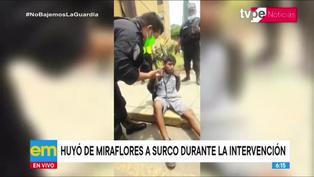 Miraflores: serenazgo captura a motociclista sin placa que fugó de intervención