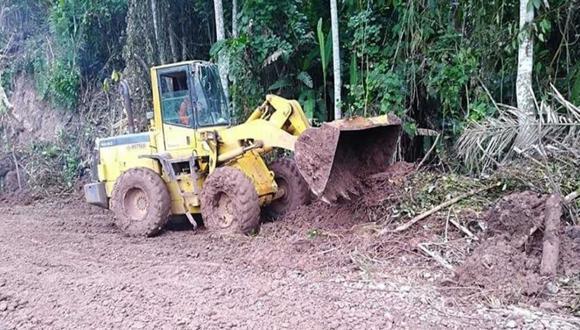 La Libertad: deslizamiento interrumpe tránsito en carretera de Pataz
