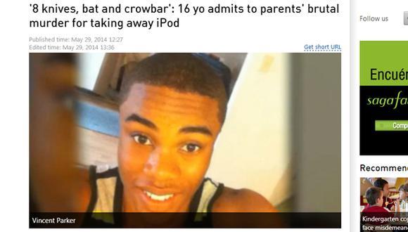 Asesinó brutalmente a sus padres porque le quitaron su iPod