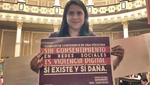 La activista Olimpia Coral Melo, quien impulsó la reforma al Código Penal para que la difusión de packs sea un delito. Foto: El Universal/ GDA