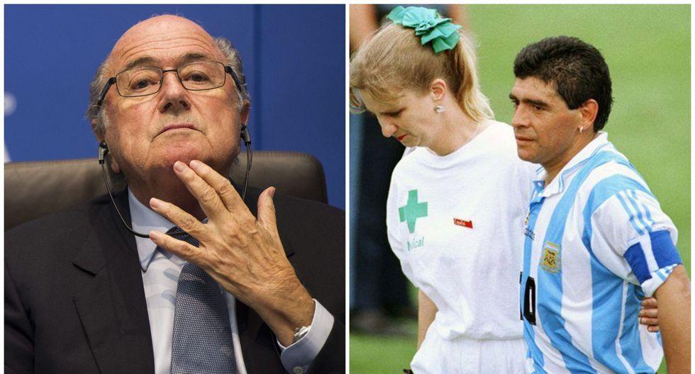 """Joseph Blatter, ex presidente de la FIFA: """"En el caso Maradona yo estuve en el centro de esa decisión"""". (Foto: AFP)"""