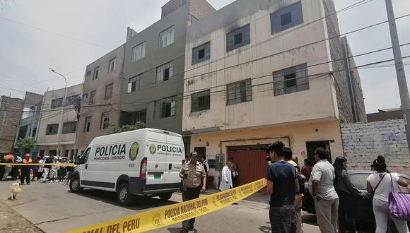 La pequeña de 2 años sufrió por el humo del incendio provocado por su padre tras el asesinato de su madre y hermanos en El Agustino. (Foto: GEC)