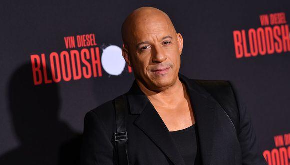 """Vin Diesel se refiere al coronavirus en el estreno de su nueva película """"Bloodshot"""". (Foto: AFP)"""