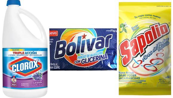 Clorox, Bolívar y Sapolio entre las marcas más consumidas. (Foto: Difusión)