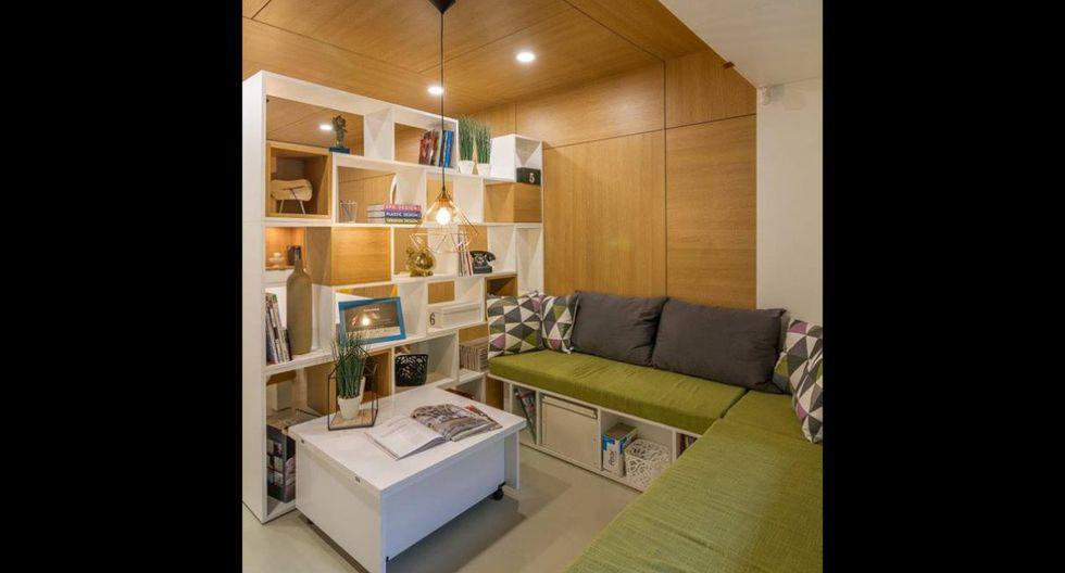 Pese a su tamaño reducido, la oficina luce espaciosa. Es ideal para recibir clientes en un ambiente acogedor y lleno de color. (Foto: Arthur Tintu / Facebook ArhiDOT)