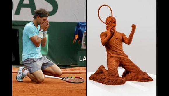 Rafael Nadal: le hacen escultura con arcilla de Roland Garros