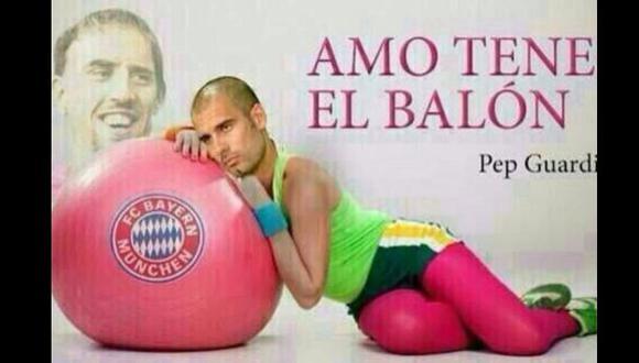 El meme que se burla de Pep Guardiola y su amor por el balón