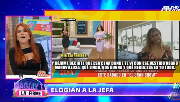Magaly Medina critica a Melissa Paredes por sus recientes comentarios a Gisela Valcárcel. (Captura ATV).