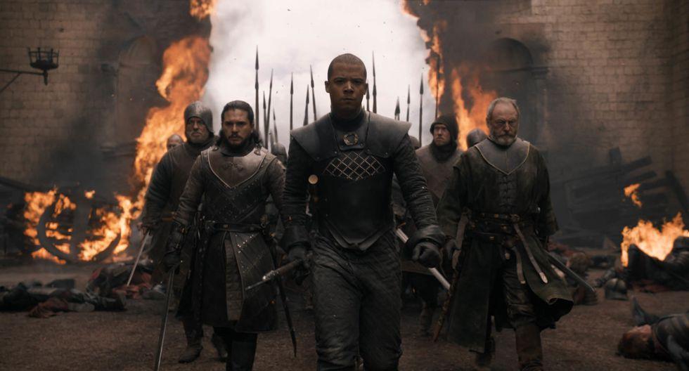 """En """"Game of Thrones"""", Jon, Grey Worm y Davos ingresaron como héroes a la ciudad; pero salieron siendo todo lo contrario. Foto: HBO."""