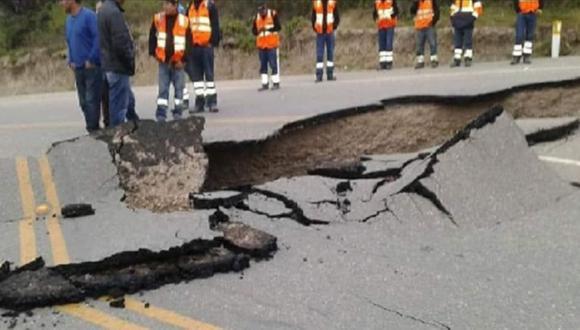 Vía estará reparada en 3 días. (Foto: Andina)