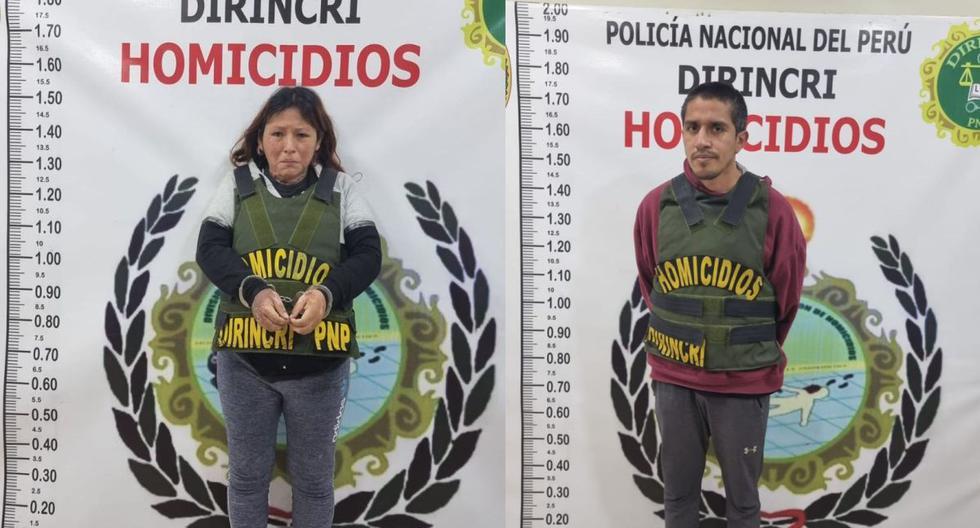 La Policía Nacional capturó en el asentamiento humano Primero de Mayo, en Puente Piedra, a Kelly Rojas Páucar (32) y Ángel Cigarrostegui Cavalier (36). (Difusión)