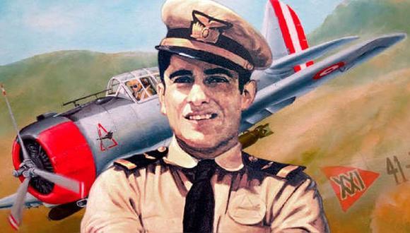José Abelardo Quiñones, Patrono de los Aviadores Militares, por ofrecer su vida a la causa nacional en la Batalla de Zarumilla. (Foto: El Peruano)