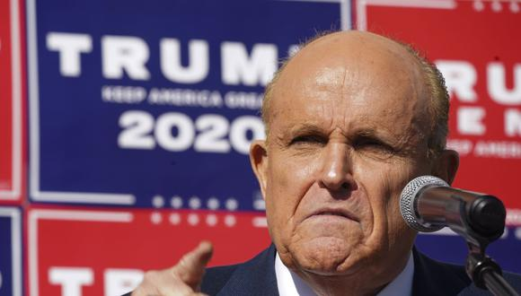 Rudy Giuliani, abogado del presidente de Estados Unidos Donald Trump. (Foto: Bryan R. Smith / AFP).