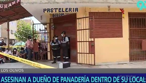 Los peritos de la Policía cercaron la zona para recoger la evidencia que ayude a esclarecer el crimen de Fernando Teófilo Osorio Toribio (48). (Latina)