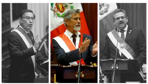 El 2020 también será recordado por ser el año el que el Perú tuvo tres presidentes. (Foto: Presidencia)