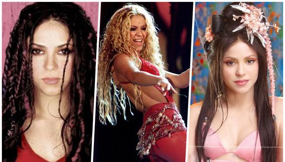 Shakira cuenta con 9 álbumes de estudio en sus más de 20 años de carrera. En la imagen, la cantante colombiana en tres momentos de su carrera: 1998, 2000 y 2020. (Fotos: Difusión, AFP)