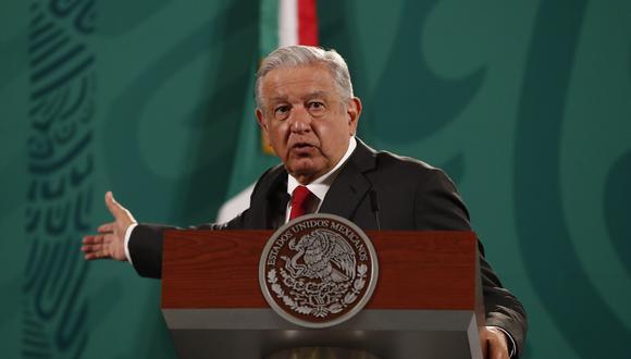 El presidente de México, Andrés Manuel López Obrador, participa en una rueda de prensa matutina hoy, en el Palacio Nacional de Ciudad de México. (Foto: EFE)