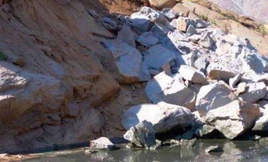 Áncash: derrumbe provoca rotura de mineroducto en Antamina