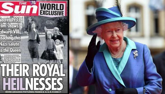 Esta es la polémica fotografía de Isabel II y su saludo nazi