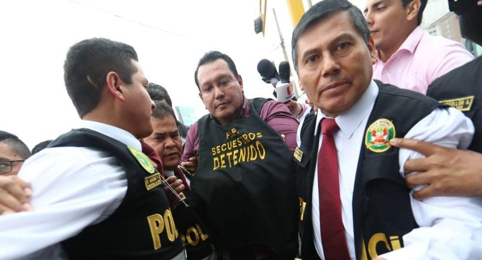 El exgobernador regional del Callao fue llevado a la sede de Requisitorias. ( Giancarlo Ávlia / GEC)