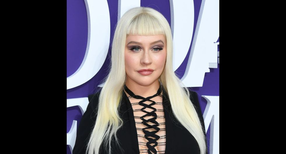 """LOS ANGELES, CALIFORNIA - OCTOBER 06: Christina Aguilera attends the premiere of MGM's """"The Addams Family"""" at Westfield Century City AMC on October 06, 2019 in Los Angeles, California.   Jon Kopaloff/Getty Images,/AFP"""