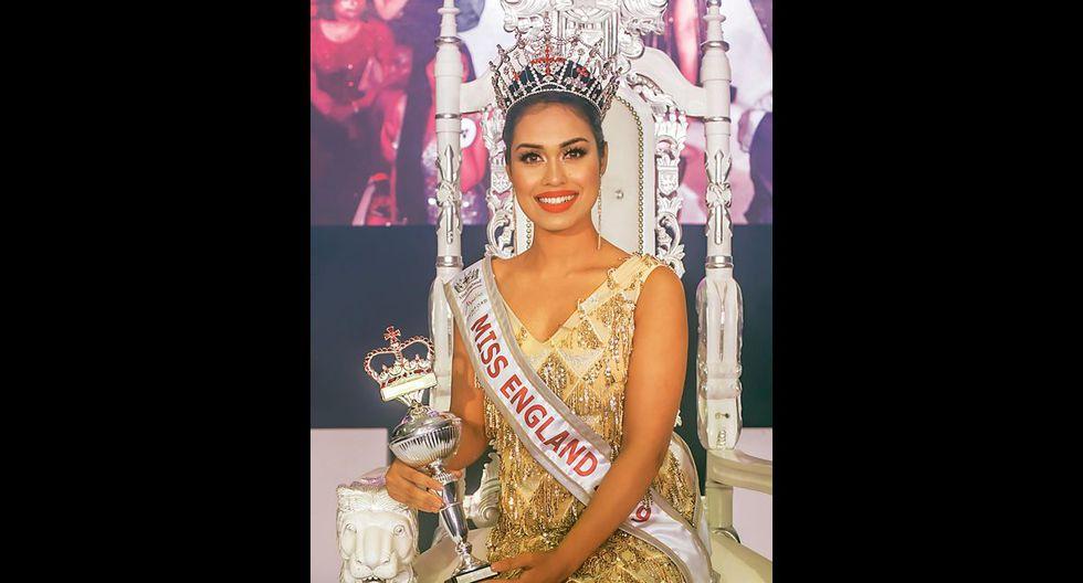 Bhasha Mukherjee coronada Miss Inglaterra 2019. (Foto: AFP)
