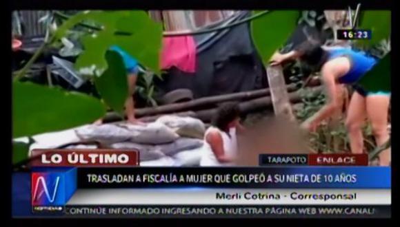 San Martín: llevan a la fiscalía a mujer que golpeó a su nieta