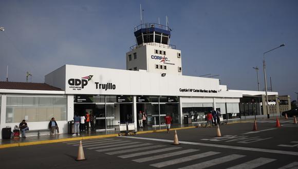 Aeropuerto de Trujillo es uno de los terminales que recibía vuelos desde Santiago de Chile, antes de la pandemia. (Foto: GEC)
