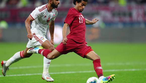 El delantero Akram Afif es una de las figuras de la selección de Qatar que disputará las semifinales de la Copa de Naciones del Golfo. (Foto: REUTERS).