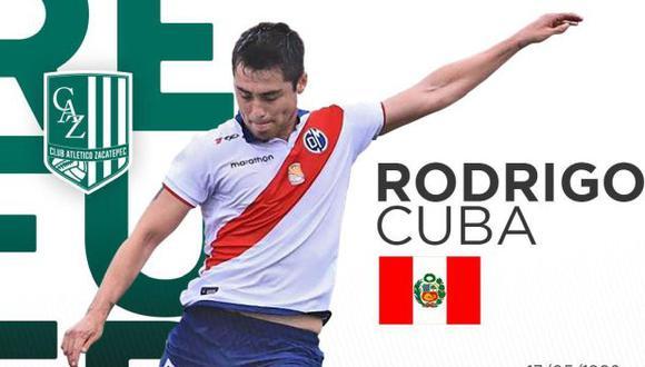 Rodrigo Cuba empezará su primera experiencia en el fútbol extranjero. (Foto: Zacatepec)