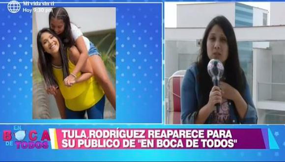 Tula Rodríguez decide viajar con su hija tras el fallecimiento de Javier Carmona. (Foto: captura de video)