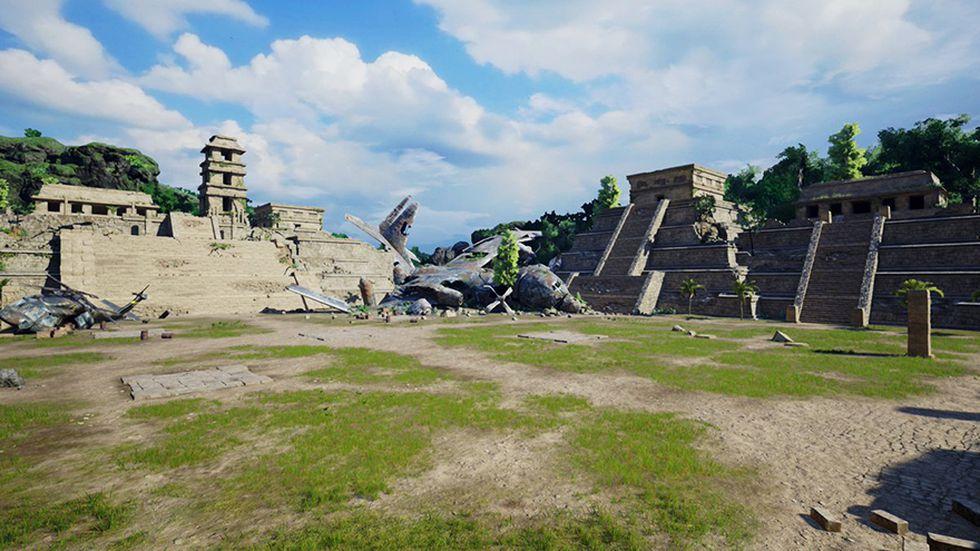 Escenario de México disponible en Jump Force. (Difusión)