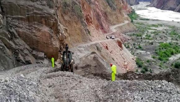 El Centro de Emergencia y Operaciones Regional (COER) informó que las precipitaciones provocaron el deslizamiento de piedras del sector conocido como el Balcón de Judas, en el distrito de Independencia, provincia de Huaraz (Foto: cortesía)