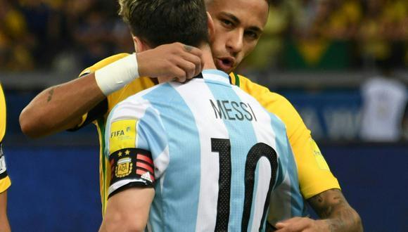 Neymar y Messi jugaron juntos en Barcelona. (Foto: AFP)