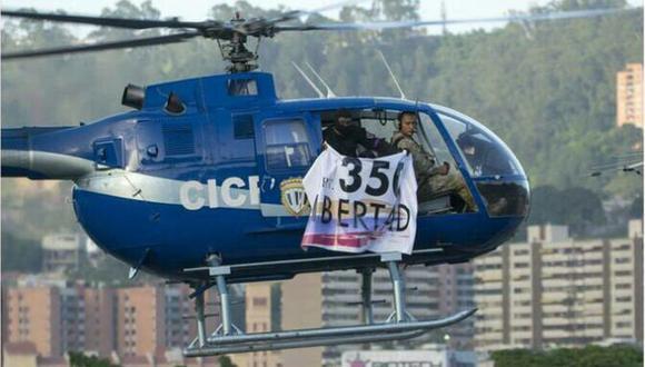 El helicóptero sobrevoló la sede del Tribunal Supremo de Justicia de Venezuela.