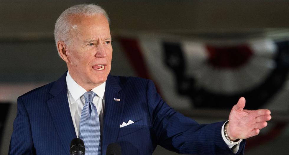 El ex vicepresidente presidencial demócrata Joe Biden habla en el Centro Nacional de la Constitución en Filadelfia. (AFP)