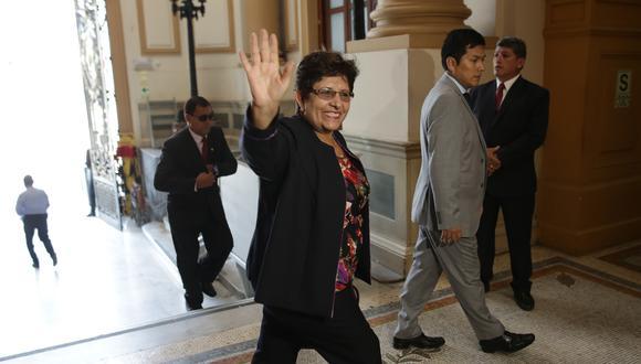 Rosario Paredes, congresista de Acción Popular, es acusada de pedir a una empleada que deposite a otros la mitad de su sueldo. (Foto: GEC)