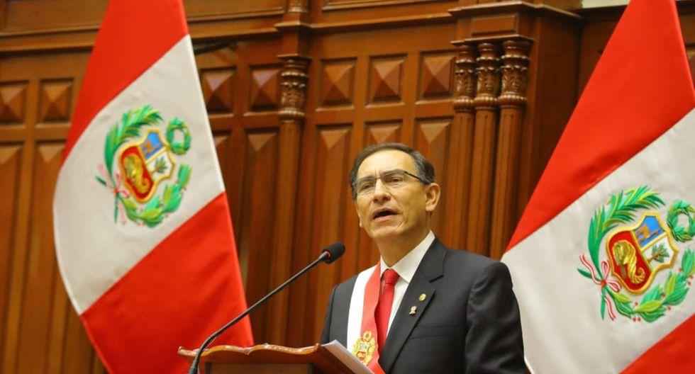 El presidente Martín Vizcarra se pronunció tras la confirmación de la muerte de Alan García. (Foto: GEC)