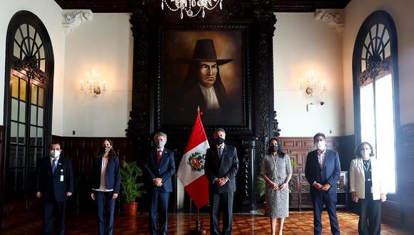 El encuentro entre la delegación de la CIDH con el mandatario se realizó en Palacio de Gobierno. (Foto: Presidencia)